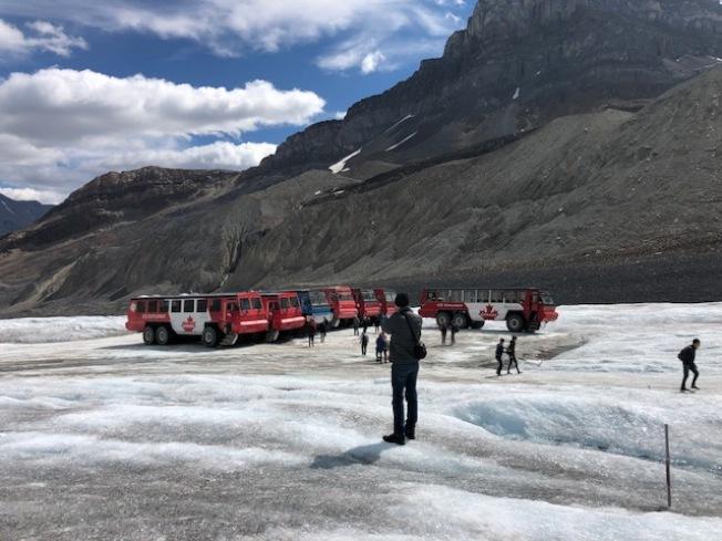 哥倫比亞冰原。(記者張宏/攝影)