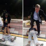 黑人乘客癲癇發作 白人男子將他丟出車廂