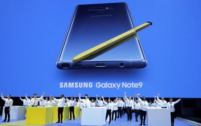 三星電子推出比iPhone X還貴智慧手機Note 9。路透