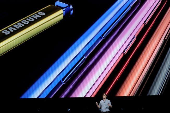 Note 9 有四種顏色款式。法新社