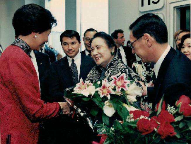 宋美齡1995年再赴國會演講時的情形。(王冀提供)