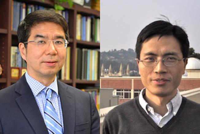 叢京生(左)和朱松純獲得巨額資金,用於解決計算機問題。(圖:UCLA提供)