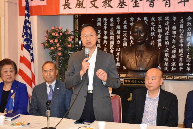 江宜樺勉勵訪問團的青年學員從國父奔走革命和華僑對中華民國一百多年支持的認知當中獲得人生發展的動力。(記者黃少華╱攝影)
