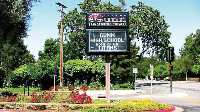 位於巴洛阿圖的甘恩高中(Gunn High),被Niche網站評為2018-19學年灣區最佳的公立高中。(Getty Images)