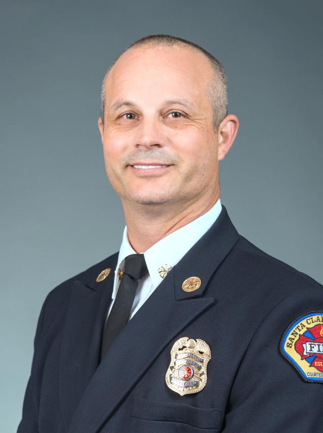 聖他克拉拉縣新任消防局長波登8月13日上任。(圖:聖縣消防局提供)