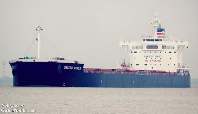 美中貿易戰開打,滿載美國大豆飛馬峰號(Peak Pegasus)成了另類受害者。(取材自Marine Traffic.com)