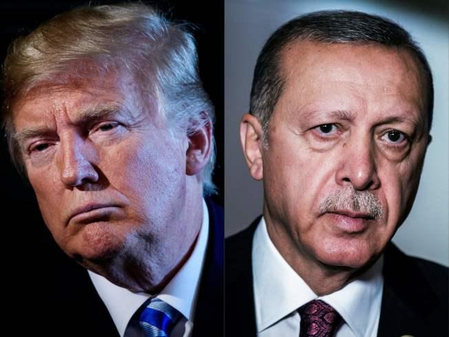 土耳其和美國關係緊張。圖左為川普總統,圖右為土耳其總統艾爾段(Recep Tayyip Erdogan)。Getty Images