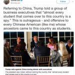「某國留美學生都是間諜」 華人聯合會發聲明譴責川普