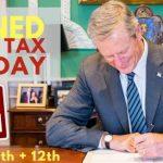 免稅周末法案 州長貝克簽了