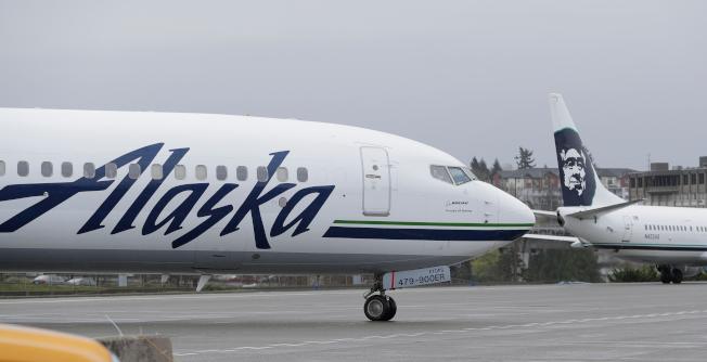 據美國全國廣播公司消息,阿拉斯加航空公司(Alaska Airlines)稱被盗的機上沒有乘客。(美聯社)