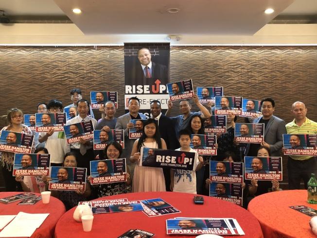 華人社區支持韓文頓連任競選。(亞總會提供)