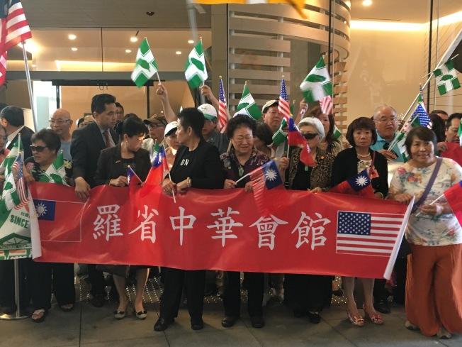 中華會館迎接團。(記者謝雨珊╱攝影)
