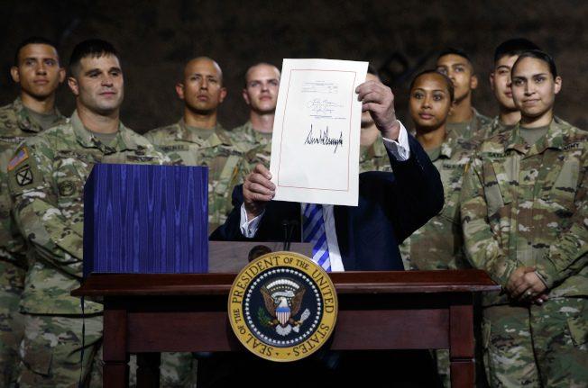 川普簽7160億元國防授權法案  放寬對中興及華為限制