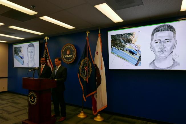 联调局召开记者会,提供绑匪画像,希望民众提供线索。(记者李雪/摄影)