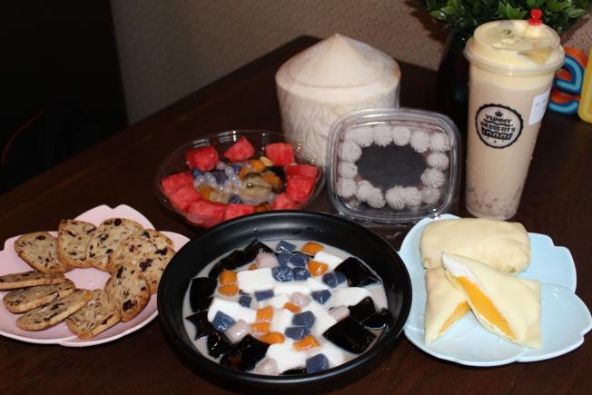 詹萍的甜品純手工製作,保持原料最真實的味道。(記者劉大琪/攝影)