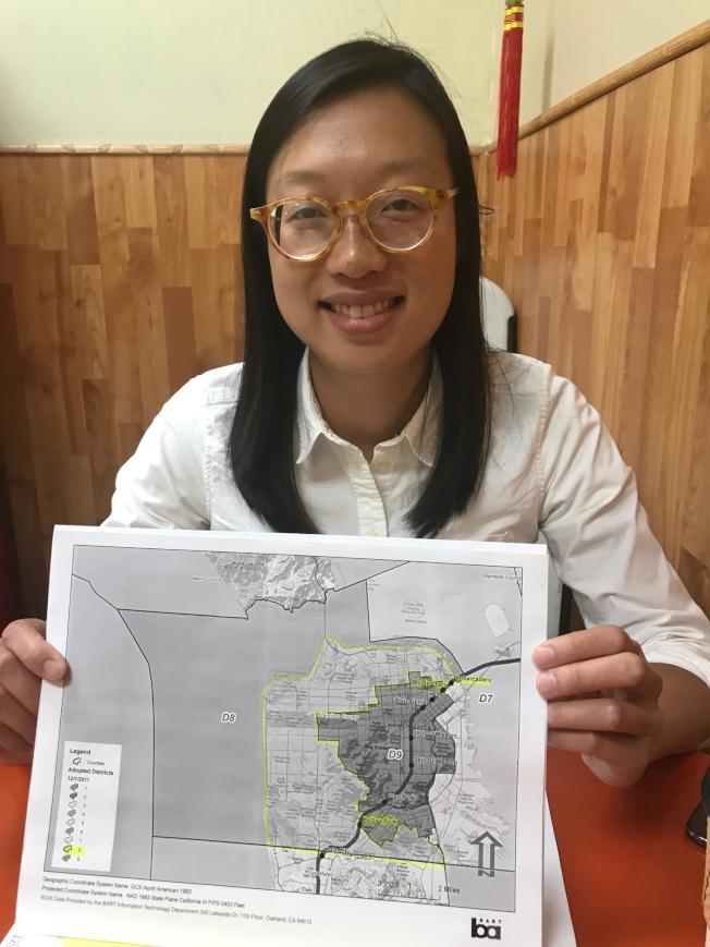 李正元競選的第八捷運董事選區,包括華裔聚居的華埠、列治文、日落及訪谷區 。(記者李秀蘭/攝影)