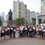 反對華埠建監獄 紐約華人社團抗議