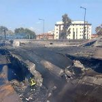 〈圖輯〉義北油罐車與汽車運輸車相撞爆炸 1死56傷