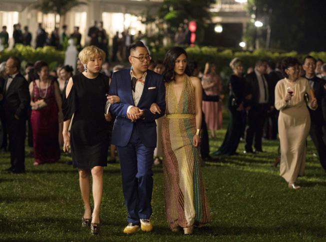 「瘋狂亞洲富豪」的故事打動了亞裔美國人,因為他們在電影「看到描寫出更真實的自己」。。(美聯社)