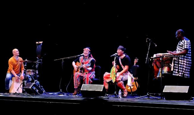 羅培茲(左起)、查勞‧巴西瓦里、阿努‧卡力亭‧沙力朋安及蓋亞,在臨時合作下帶來精采演出。(Darren Yang/攝影)