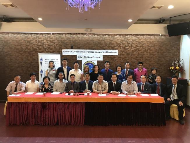 美國亞裔維權大聯盟和亞裔民主黨俱樂部抗議華埠建監獄,將於12日示威。(記者和釗宇/攝影)