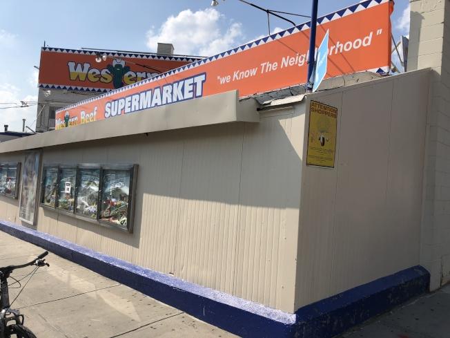 大學點大道「Western Beef」店面關門。(記者陳小寧/攝影)
