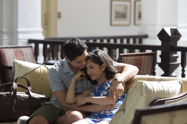 吳恬敏在片中與男主角亨利高汀談情。(美聯社)