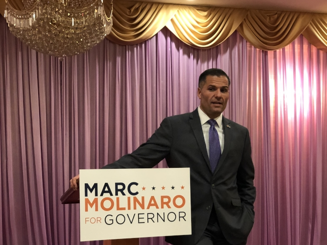 紐約州州長共和黨候選人莫利那羅表示教育不應該政治化。(記者陳小寧/攝影)