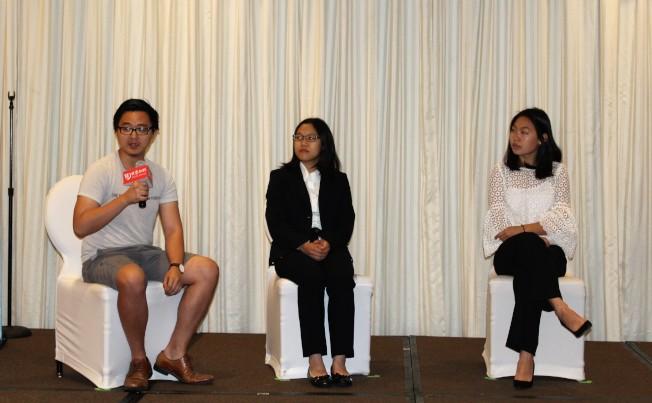 魯匯深(左起)、譚艷珍和胡依琳分享進入名校的經驗。(記者朱蕾/攝影)