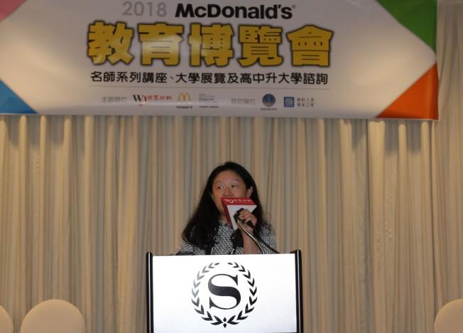 李德怡希望華人家庭擁有豐富的教育資訊、讓孩子在升學路上更順利。(記者朱蕾/攝影)