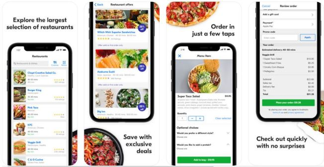 GrubHub及其品牌如Seamless和Eat24在訂購外賣或送貨方面完美地將食客與數千家餐館聯繫起來。(iTunes截圖)