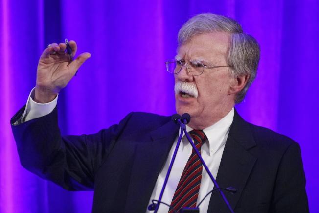 白宮國家安全顧問波頓10日在華府保守派智庫「聯邦主義協會」表示,國際刑事法庭無權干涉美國主權。(歐新社)