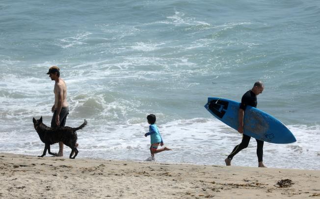 海平面若持續升高,加州沿海1400哩公路、低海拔地區都可能受到嚴重洪水威脅。(歐新社)