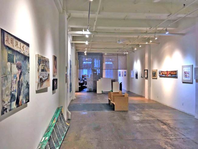 「漂浮—紐約中國藝術家邀請展」在曼哈頓雀兒喜展出。(主辦方提供)