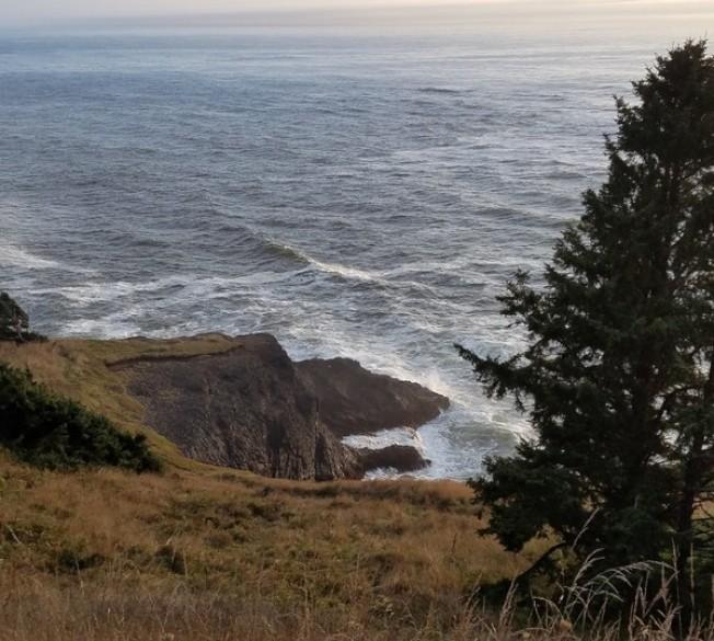 今年7月才從中國移民來美的一對華裔夫妻,9日下午在俄勒岡州太平洋海岸迪波灣(Depoe Bay)海邊岩石區野餐時,被突如其來的大浪捲入海中而溺斃。(俄勒岡州州警提供)