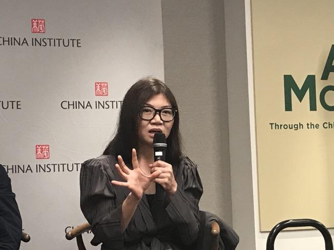王陶表示,中國建立一個國際性的品牌仍需時間。(記者和釗宇/攝影)