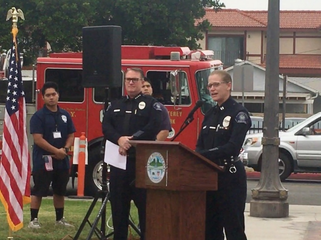 曾參與911救難工作的警察隊長凱莉.戈登(Kelly Gordon)。(記者林佩錦/攝影)