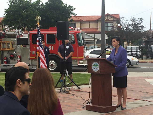 國會眾議員趙美心(Judy Chu)表示,當我們都團結起來,美國就會更強壯。(記者林佩錦/攝影)