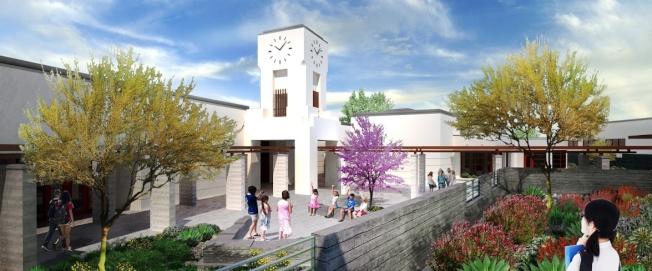 爾灣Cadence Park School學校開幕,家長稱讚新學校現代化。(爾灣聯合學區提供)