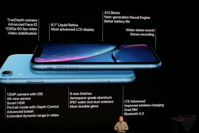 iPhone XR規格(圖/取自蘋果官網)