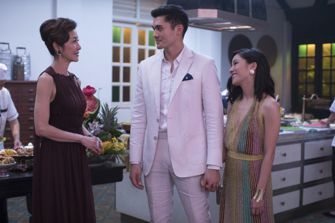 好萊塢電影「瘋狂亞洲富豪」上映後,三周票房突破1.2億元,創下美國愛情喜劇類電影六年來最佳成績。(美聯社)