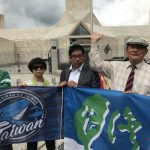 入聯宣達團中使館前發聲 抗議中國打壓台灣
