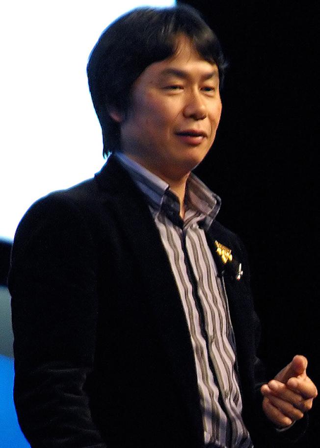 多款經典遊戲的設計者宮本茂。(維基百科)