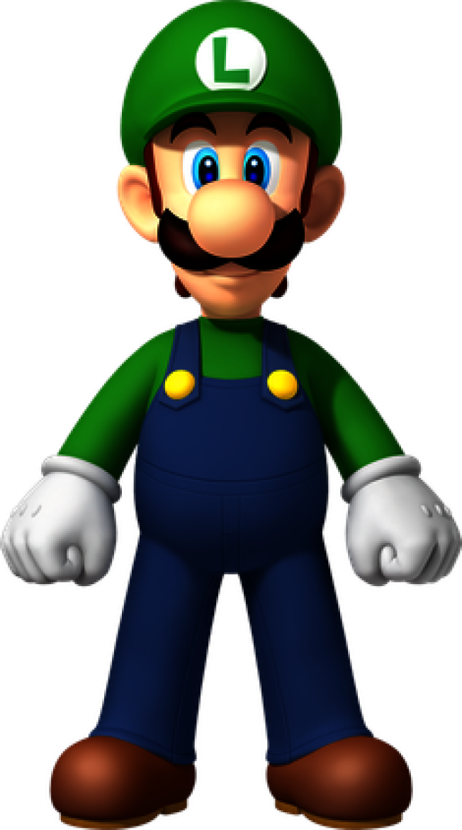 宮本為瑪利歐創造了一個兄弟:穿著綠色衣服的路易吉(Luigi)。(維基百科)