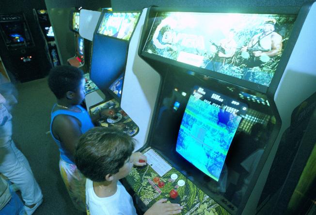 大型街機遊戲時代,大金剛就已是最受歡迎遊戲之一。(美聯社)
