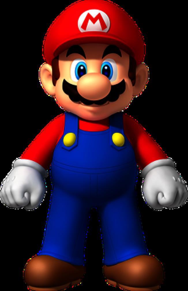 瑪利歐的形象是一位穿著工作服、戴著紅帽子的大鬍子水管工人。(維基百科)