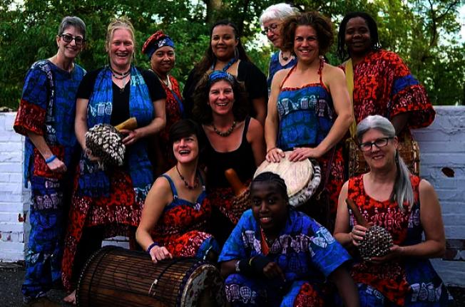 塔科馬公園民樂節,圖為來自華盛頓特區的女子團Bele Bele Rhythm Collective。(民樂節提供)