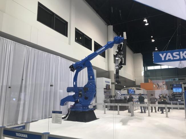 IMTS機器人展示。(記者董宇/攝影)