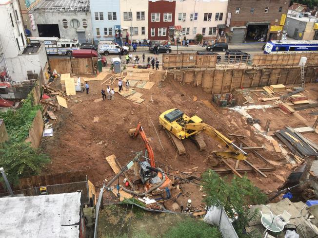 布碌崙華社建築工地12日發生牆體坍塌事故,遇難工人的遺體已尋獲。(記者顏潔恩/攝影)