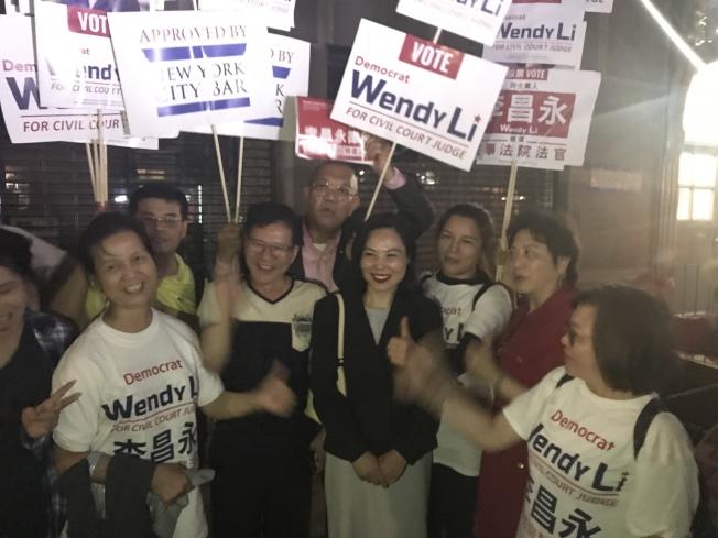 參選曼哈頓民事法庭第二選區民事訴訟法官的華裔律師李昌永,在13日的初選中戰勝黨內競爭對手羅維義。(記者和釗宇/攝影)